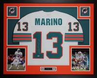 Dan Marino Signed 35x43 Custom Framed Jersey Display (Beckett COA) at PristineAuction.com