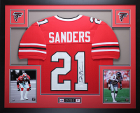 Deion Sanders Signed 35x43 Custom Framed Jersey Display (JSA COA) at PristineAuction.com