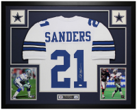 Deion Sanders Signed 35x43 Custom Framed Jersey Display (JSA COA) at PristineAuction.com