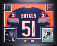 Dick Butkus Signed 35x43 Custom Framed Jersey Display (JSA COA) at PristineAuction.com
