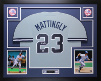Don Mattingly Signed 35x43 Custom Framed Jersey Display (JSA COA) at PristineAuction.com
