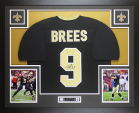 Drew Brees Signed 35x43 Custom Framed Jersey Display (Beckett COA) at PristineAuction.com