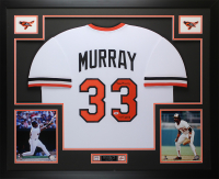 "Eddie Murray Signed 35x43 Custom Framed Jersey Display Inscribed ""HOF 2003"" (Beckett COA) at PristineAuction.com"