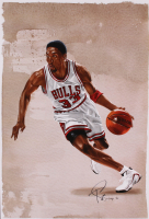 Tony Santiago - Scottie Pippen - Bulls 13x19 Signed Lithograph (PA COA) at PristineAuction.com