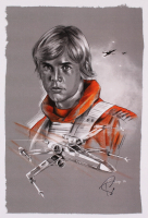 """Tony Santiago - Luke Skywalker - """"Star Wars"""" 13x19 Signed Lithograph (PA COA) at PristineAuction.com"""