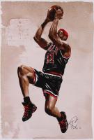 Tony Santiago - Dennis Rodman - Bulls 13x19 Signed Lithograph (PA COA) at PristineAuction.com