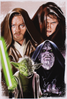 "Tony Santiago - ""Star Wars: Revenge of the Sith"" 13x19 Signed Lithograph (PA COA) at PristineAuction.com"