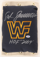 "Sgt. Slaughter Signed WWF 80's Style Turnbuckle Inscribed ""HOF 2004!"" (PSA COA) at PristineAuction.com"