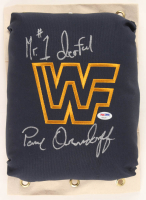 "Paul Orndorff Signed WWF 80's Style Turnbuckle Inscribed ""Mr. #1derful"" (PSA COA) at PristineAuction.com"