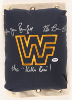 "B. Brian Blair & ""Jumpin"" Jim Brunzell Signed WWF 80's Style Turnbuckle Inscribed ""The Killer Beesl"" (PSA COA) at PristineAuction.com"