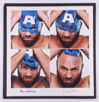 """Randy Couture & Eric Williams Signed LE """"The Real Captain America"""" 24x25 Custom Matted UFC Fine Art Giclee (Beyond the Cage COA & PA LOA) at PristineAuction.com"""