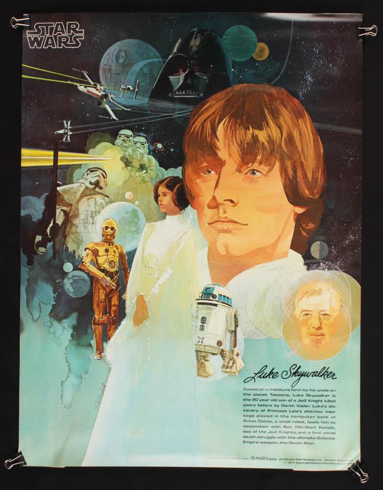 """Star Wars"" Vintage 1977 Coca Cola 18x24 Poster at PristineAuction.com"