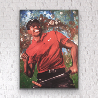 "Greg M. Signed ""Tiger Woods"" 30x40 Giclee on Metal at PristineAuction.com"