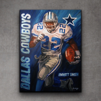 """Greg M. Signed """"Emmitt Smith"""" 30x40 Giclee on Metal at PristineAuction.com"""