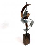 "Jeff Linenkugel ""Waltz"" 6x7x20 Mixed Media Sculpture at PristineAuction.com"