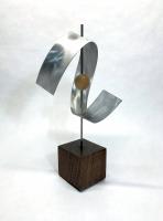 "Jeff Linenkugel ""Swoosh"" 8x8x15 Mixed Media Sculpture at PristineAuction.com"