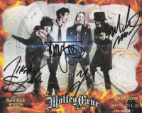 Motley Crue 8x10 Photo Signed By (4) with Nikki Sixx, Vince Neil, Mick Mars, & Tommy Lee (REAL LOA) at PristineAuction.com