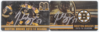 Lot of (2) Patrice Bergeron Signed Bruins Season Passes with (1) 2013-14 & (1) 2015-16 (Bergeron COA) at PristineAuction.com