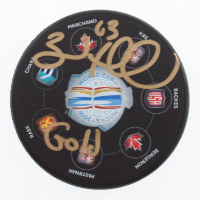 "Brad Marchand Signed 2016 World Cup of Hockey Logo Hockey Puck Inscribed ""Gold"" (Marchand COA) at PristineAuction.com"