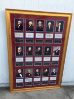 Set of (3) 40x58 Custom Framed Cut Displays Signed by All (45) Presidents with George Washington, Donald Trump (PSA LOA) at PristineAuction.com