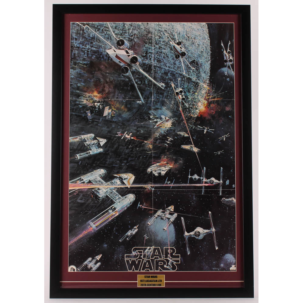1977 Original Promotional Star Wars Episode Iv A New Hope 24 5x36 Custom Framed Vintage Record Lp Movie Poster Insert Pristine Auction