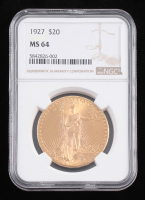 1927 $20 Saint-Gaudens Double Eagle Gold Coin (NGC MS 64) at PristineAuction.com