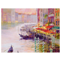 """Marilyn Simandle Signed """"Canal at Dusk"""" Limited Edition 40x30 Giclee on Canvas at PristineAuction.com"""