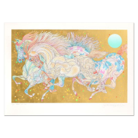 "Guillaume Azoulay Signed ""Stardust"" Limited Edition 35x25 Serigraph with Hand Laid Gold Leaf at PristineAuction.com"