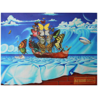 """Anatoliy Keis Signed """"Salvador Dali Street"""" 30x40 Limited Edition Giclee on Canvas at PristineAuction.com"""