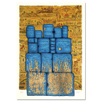 "Moshe Castel Signed ""Hakotel"" Limited Edition 27x19 Gold Embossed Serigraph at PristineAuction.com"