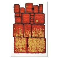 "Moshe Castel Signed ""Prayer at the Wall"" Limited Edition 21x14 Gold Embossed Serigraph at PristineAuction.com"