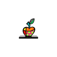 "Romero Britto Signed ""Big Apple"" Limited Edition 9x8x4 Sculpture at PristineAuction.com"