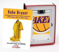 1998-99 KOBE BRYANT GAME-WORN L.A. LAKERS WARM-UP SUIT SWATCH MYSTERY BOX at PristineAuction.com