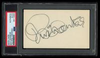 Ravi Shankar Signed 3x5 Index Card (PSA Encapsulated) at PristineAuction.com