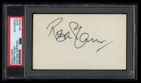 Robert Plant Signed 3x5 Index Card (PSA Encapsulated) at PristineAuction.com