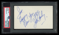 """John Candy Signed 3x5 Index Card Inscribed """"Happy New Year 1984"""" (PSA Encapsulated) at PristineAuction.com"""