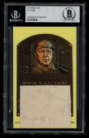 "D.T. ""Cy"" Young Signed Gold Hall of Fame Plaque Postcard Cut Inscribed ""Prospect 79"" (BAS Encapsulated) at PristineAuction.com"