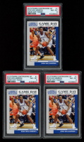 Lot of (3) PSA Graded 8 Zion Williamson 2019-20 Panini Contenders Draft Picks Game Day Tickets #1 at PristineAuction.com