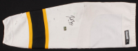 Patrice Bergeron Signed Bruins Game-Worn Sock (Bergeron COA) at PristineAuction.com