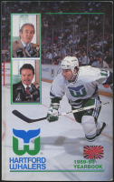 Hartford Whalers 1989-90 Yearbook Signed by (44) with Brent Peterson, Ron Francis, John Anderson, Dave Babych, Sylvain Cote, Kevin Dineen (YSMS COA) at PristineAuction.com
