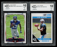 Lot of (2) BCCG Graded 10 Football Rookie Cards with 2014 Topps #355A Odell Beckham Jr. RC & 2011 Score #315A Cam Newton RC at PristineAuction.com