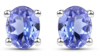Tanzanite Oval Earrings at PristineAuction.com