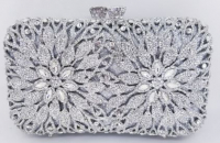 Swarovski Crystal Element Silver Lined Handbag at PristineAuction.com