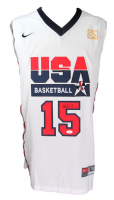 Magic Johnson Signed Team USA Jersey (JSA COA) at PristineAuction.com