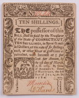 1780 10s. Ten Shillings - Connecticut - Colonial Currency Note at PristineAuction.com