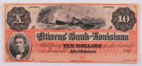 """1860's Citizens' Bank of Louisiana $10 Ten-Dollar """"Dixie Note"""" Bank Note at PristineAuction.com"""