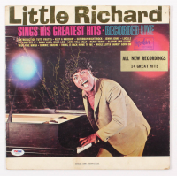 "Little Richard Signed ""Little Richard Sings His Greatest Hits'"" Vinyl Record Inscribed ""God Love"" (PSA COA) at PristineAuction.com"