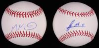 Lot of (2) Signed OML Baseballs with Manuel Margot & Francis Martes (SidsGraphs COA & JSA COA) at PristineAuction.com