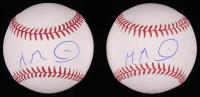 Lot of (2) Manuel Margot Signed OML Baseballs (JSA COA) at PristineAuction.com