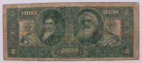 """1896 $2 Two-Dollar """"Educational Series"""" Large-Size Silver Certificate at PristineAuction.com"""